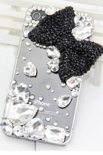 6c 6s plus Rhinestone bow diamond Hard Back Mobile phone Case Cover sparkly Case Cover for iPhone 4 4s 5 7 5s 6 6 plus Samsung galaxy s7 s4 s5 s6 note10 4