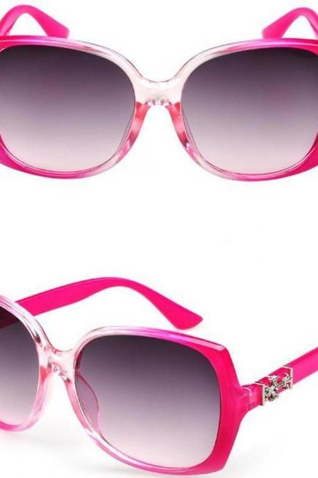 Retro vintage party pink frame summer unisex sunglasses