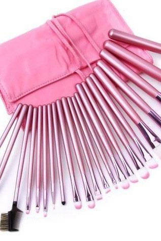 New Pink 22 pcs Make up Brush Kit Makeup Brushes Tools Set