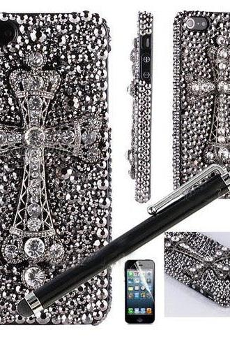 6c 6s plus Luxury diamond Cross Hard Back Mobile phone Case Cover bling Rhinestone Case Cover for iPhone 4 4s 5 7 5s 6 6 plus Samsung galaxy s7 s4 s5 s6 note8.0 4
