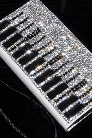 6s plus 6c NEW simplicity Piano diamond Hard Back Mobile phone Case Cover bling leather Rhinestone Case Cover for iPhone 4 4s 5 7 5s 6 6 plus Samsung galaxy s7 s4 s5 s6 note8.0 4