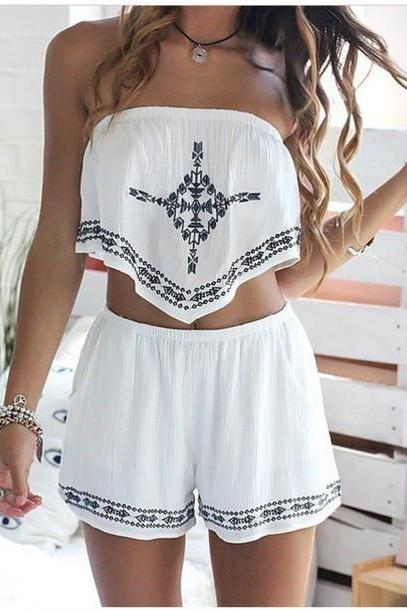 FASHION SLEEVELESS TWO-PIECE