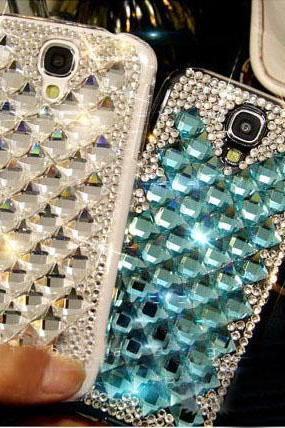 6s plus 6c Sparkly Lattice Rhinestone Hard Back Mobile phone Case Cover bling Case Cover for iPhone 4 4s 5 7 5s 6 6 plus Samsung galaxy s7 s4 s5 s6 note10 4