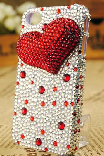 6s plus 6c Fashion love Rhinestone Hard Back Mobile phone Case Cover bling girly Case Cover for iPhone 4 4s 5 7plus 5s 6 6 plus Samsung galaxy s7 s4 s5 s6 note8.0 4