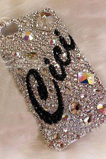 6s plus 6c Customized name Rhinestone Hard Back Mobile phone Case Cover bling crystal Case Cover for iPhone 4 4s 5 7plus 5s 6 6 plus Samsung galaxy s7 s4 s5 s6 note8.0 4