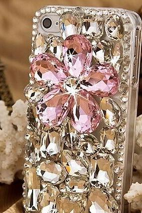 6s plus 6c Girly Floral rhinestone Hard Back Mobile phone Case Cover bling handmade crystal Case Cover for iPhone 4 4s 5 7plus 5s 6 6 plus Samsung galaxy s7 s4 s5 s6 note10 4