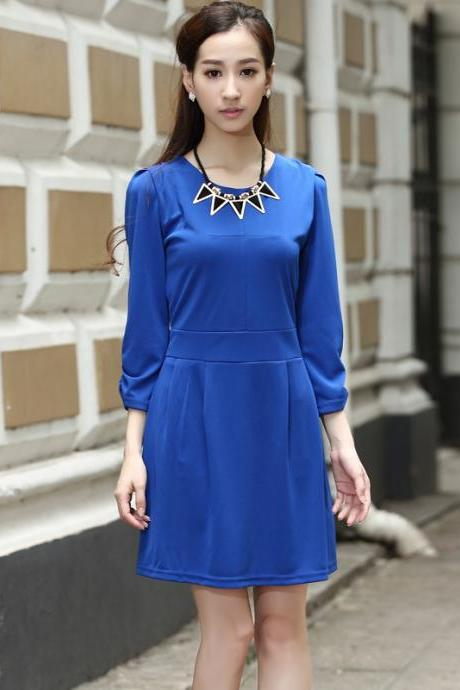 Royal Blue Womens Formal Business Wear to Work Office Dresses
