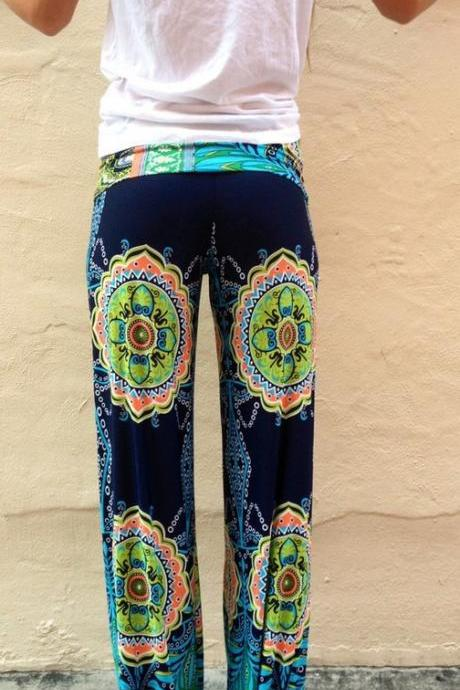 HOT COLORFUL TOTEM PANTS