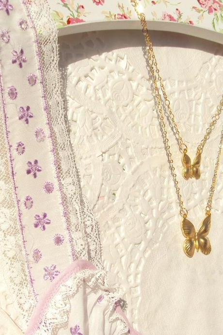 Butterfly Dreams - Butterfly Necklace 16k Gold