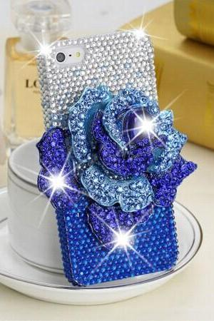 6c 6s plus Hot Floral rhinestone Hard Back Mobile phone Case Cover sparkly handmade crystal Case Cover for iPhone 4 4s 5 7plus 5s 6 6 plus Samsung galaxy s7 s4 s5 s6 note10 4
