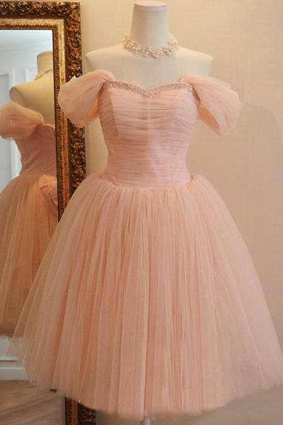 Bd07074 Charming Homecoming Dress,A-Line Homecoming Dress,Tulle Homecoming Dress, Noble Short Prom Dress