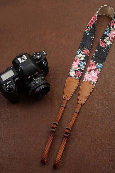 Black jeans printing comfortable camera strap Neck Strap elastic carrying a classic for canon nikon sony