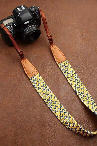 Plait New National wind bohemian comfortable camera strap Neck Strap elastic carrying a classic for canon nikon sony