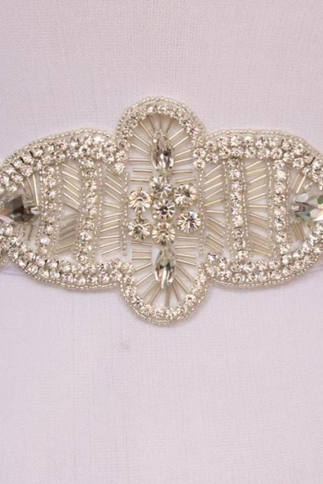 New arrival sparkly high quality handmade Crystal Rhinestone Czech Stones Wedding Bridal Sash Belt Free Shipping