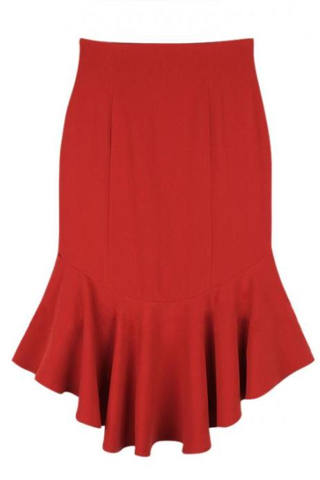 Slim Fishtail Skirt Pleated Skirts