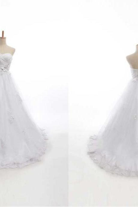 NEW ELEGANT SWEETHEART BALL GOWN WEDDING Wedding Dress Bridal Dress Gown Wedding Gown Bridal Gown Lace Bridal Dress