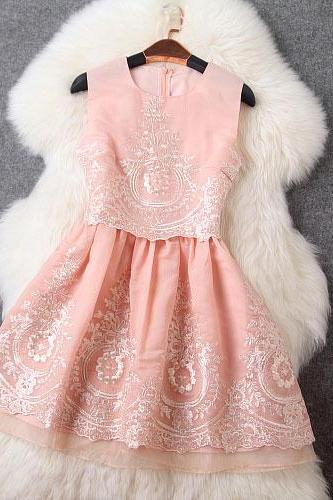 Embroidered Dress Vest Skirt