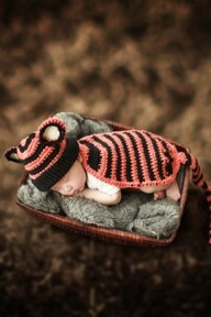 Tiger Cloak Hand knitted wool clothes photo prop one hundred days newborn baby photography baby clothes joker pictures clothes