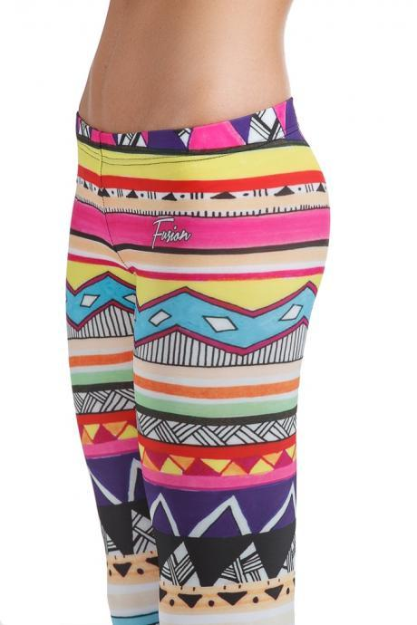 Fusion Printed Leggings 'Zippy Tribal'