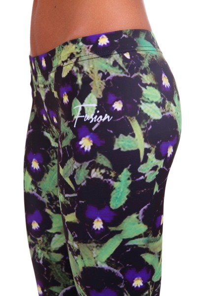 Fusion Printed Leggings 'Violets'