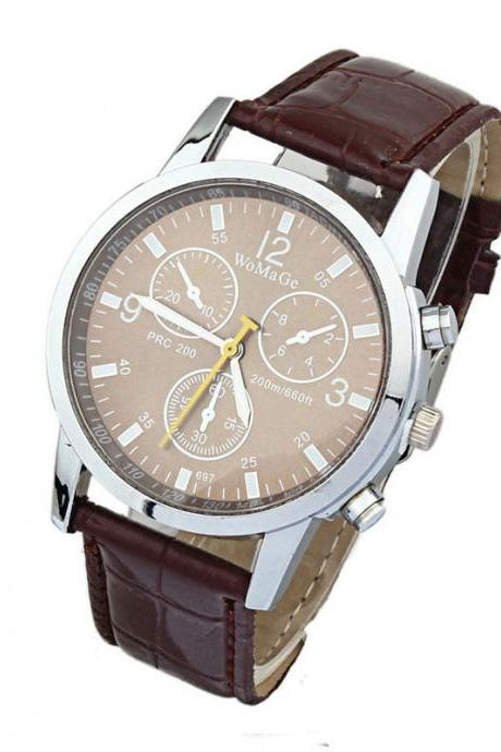 Luxury watch, luxury leather watch, brown leather watch, bracelet watch, vintage watch, retro watch, woman watch, lady watch, girl watch, unisex watch, AP00390