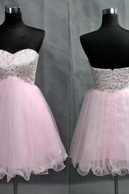 Real Made Sweetheart Homecoming Dresses ,Pink Graduation Dresses,Homecoming Dress,Short/Mini Homecoming Dress