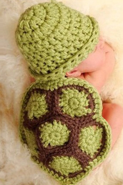 Tortoise Hand knitted wool clothes photo prop one hundred days newborn baby photography baby clothes joker pictures clothes