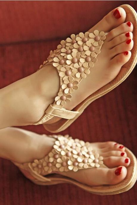 New fashion Bohemia style women flat sandals for 2015 summer daily