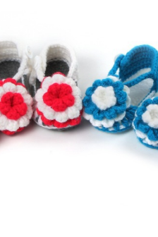 Hand-woven Soft bottom baby shoes flower infant shoes toddler shoes Photography Props shoes wool socks