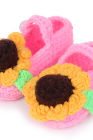 Sunflower Hand-woven Soft bottom baby shoes flower infant shoes toddler shoes Photography Props shoes