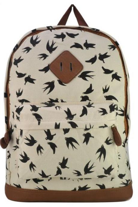 Animal Print Teen School White Girl backpack