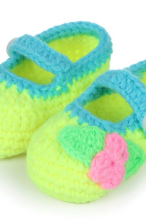 Hand-woven Soft bottom Trefoil baby shoes infant shoes toddler shoes Photography Props shoes