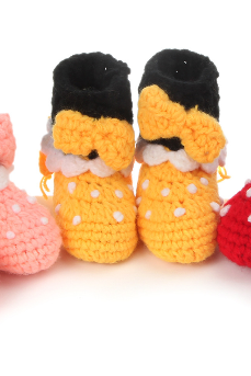 Bow Tall boots Hand-woven Soft bottom comfortable baby shoes infant shoes toddler shoes Photography Props shoes
