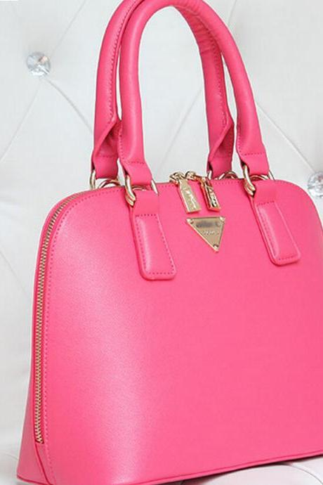 2015 Fashion Design Rose Zipper Metal Decorated Original Brand Womens Handbag