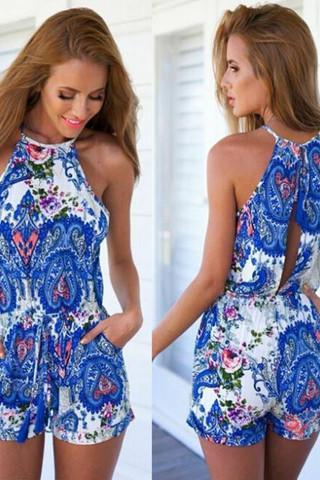 FASHION BLUE BACKLESS DRESS 314465