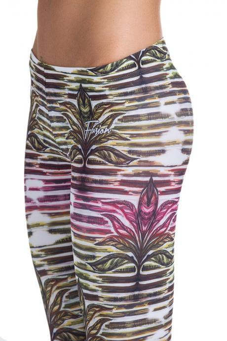 Fusion Printed Leggings 'Safari Plant'