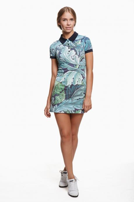Polo dress FLYING LEAVES