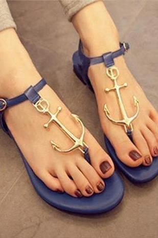CANDY -COLORED ANCHORS SANDALS
