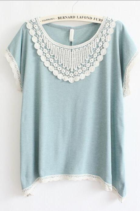 Bat sleeve Lace T-shirt 7610985
