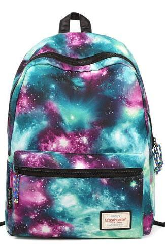 Galaxy Colorful Couple Waterproof Backpack
