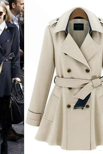 Slim Elegant Double-Breasted Coat