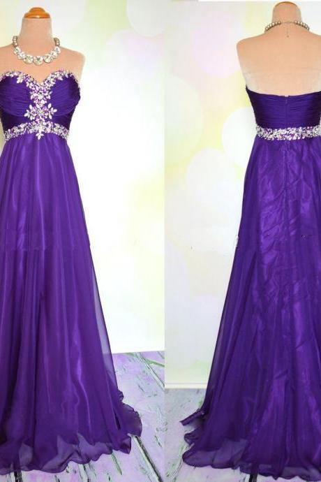 Purple Prom Dress, Evening Dress, Party Dress