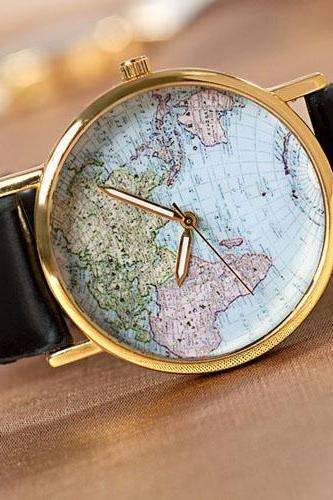 World Map Fashion Watches
