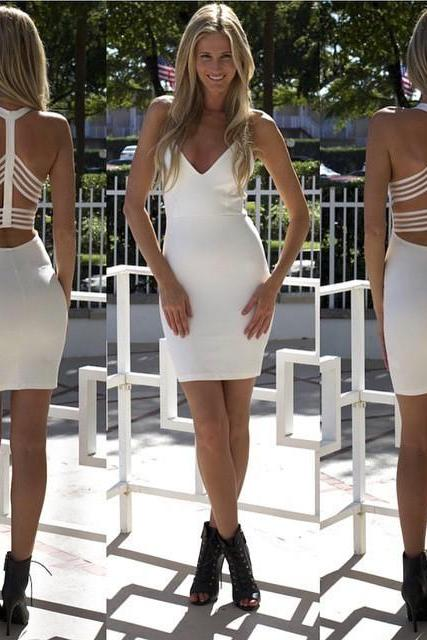 Fashion Women Sleeveless Bandage Bodycon Evening Sexy Party Cocktail Mini Dress