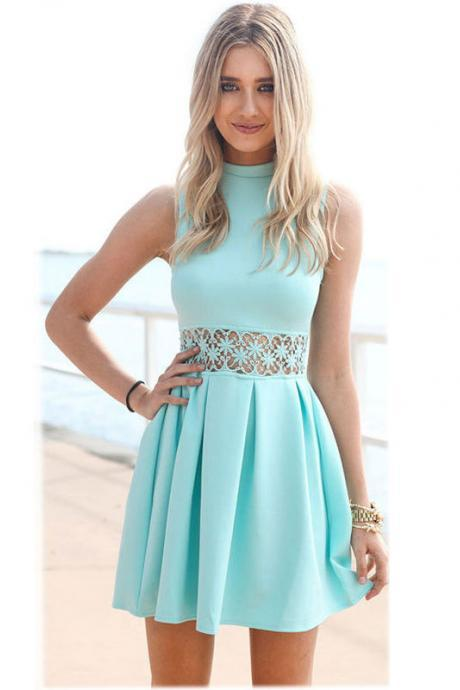 Mint Green Hollow Dress