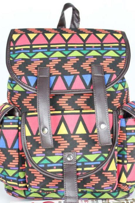 Geometry Folk Printing Backpack