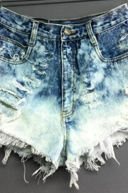 Fashion Hole Sexy Denim Shorts