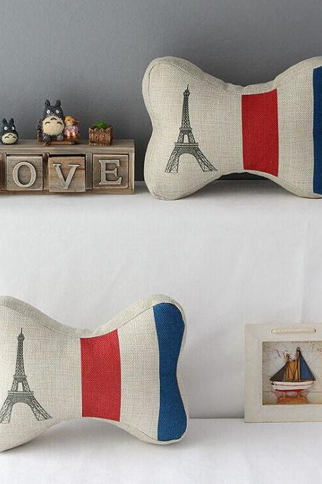 High Quality 2 pcs a set French Tower headrests Cotton Linen Home Accesorries soft Comfortable Pillow Cover Cushion Cover 45cmx45cm