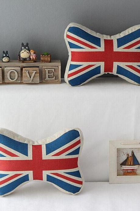 High Quality 2 pcs a set British flag headrests Cotton Linen Home Accesorries soft Comfortable Pillow Cover Cushion Cover 45cmx45cm