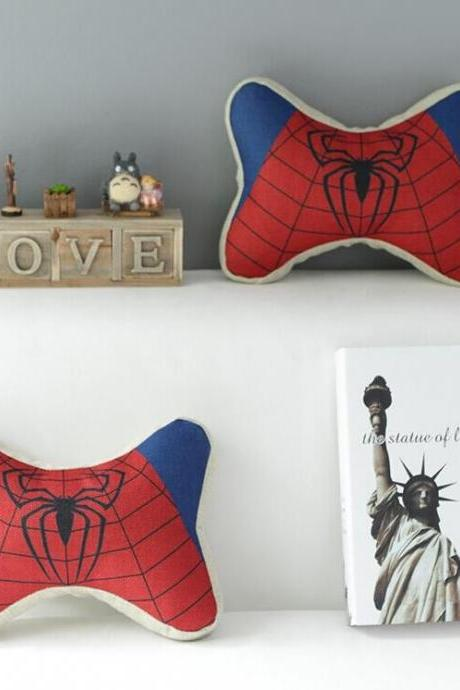 High Quality 2 pcs a set Spiderman headrests Cotton Linen Home Accesorries soft Comfortable Pillow Cover Cushion Cover 45cmx45cm